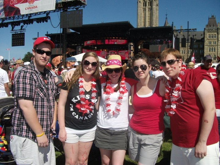 Just before the morning concert, on Parliament Hill