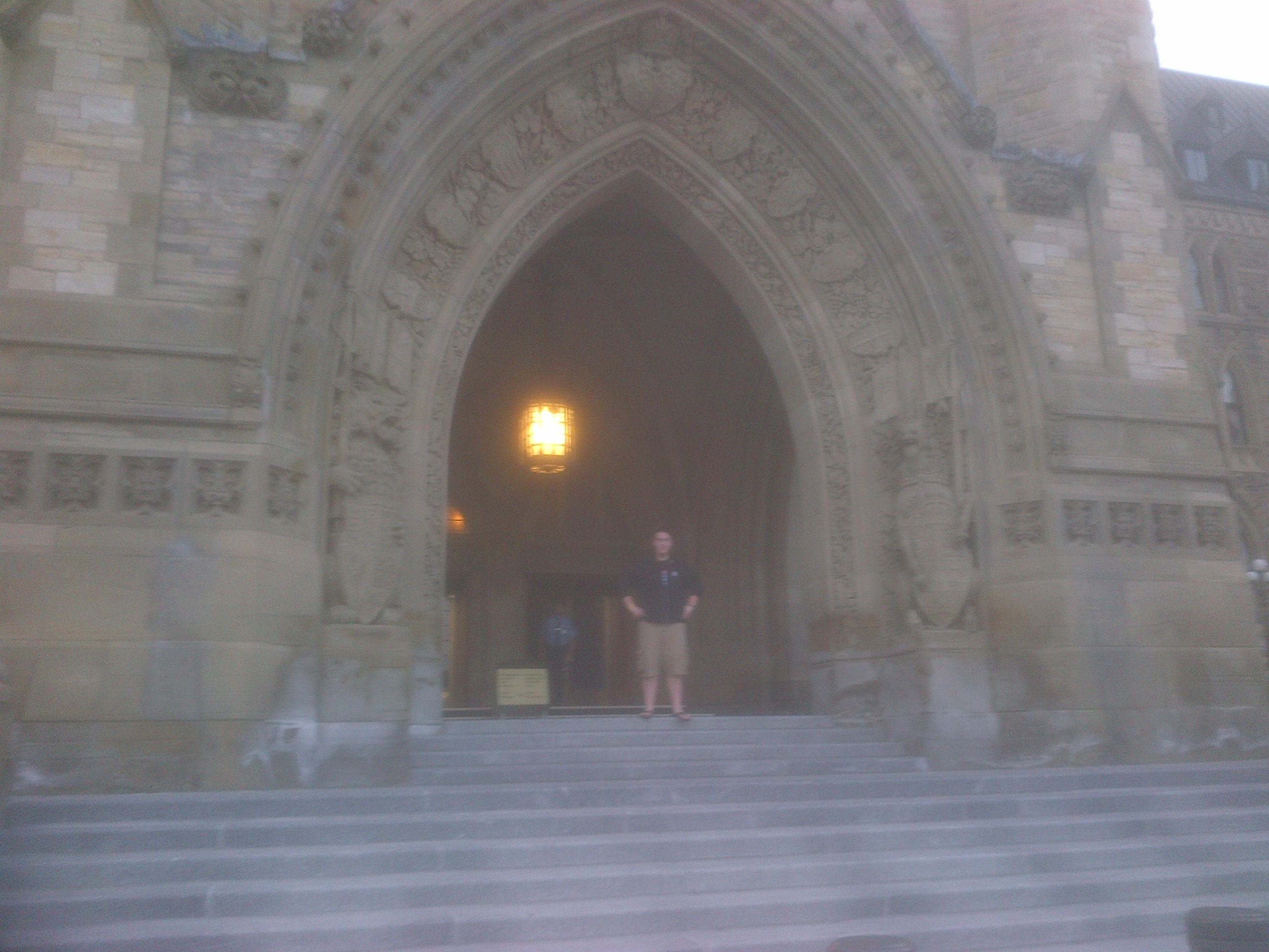 Standing at the front entrance of Centre Block!