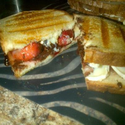 My Version of the Roasted Strawberry Sandwich off Pinterest