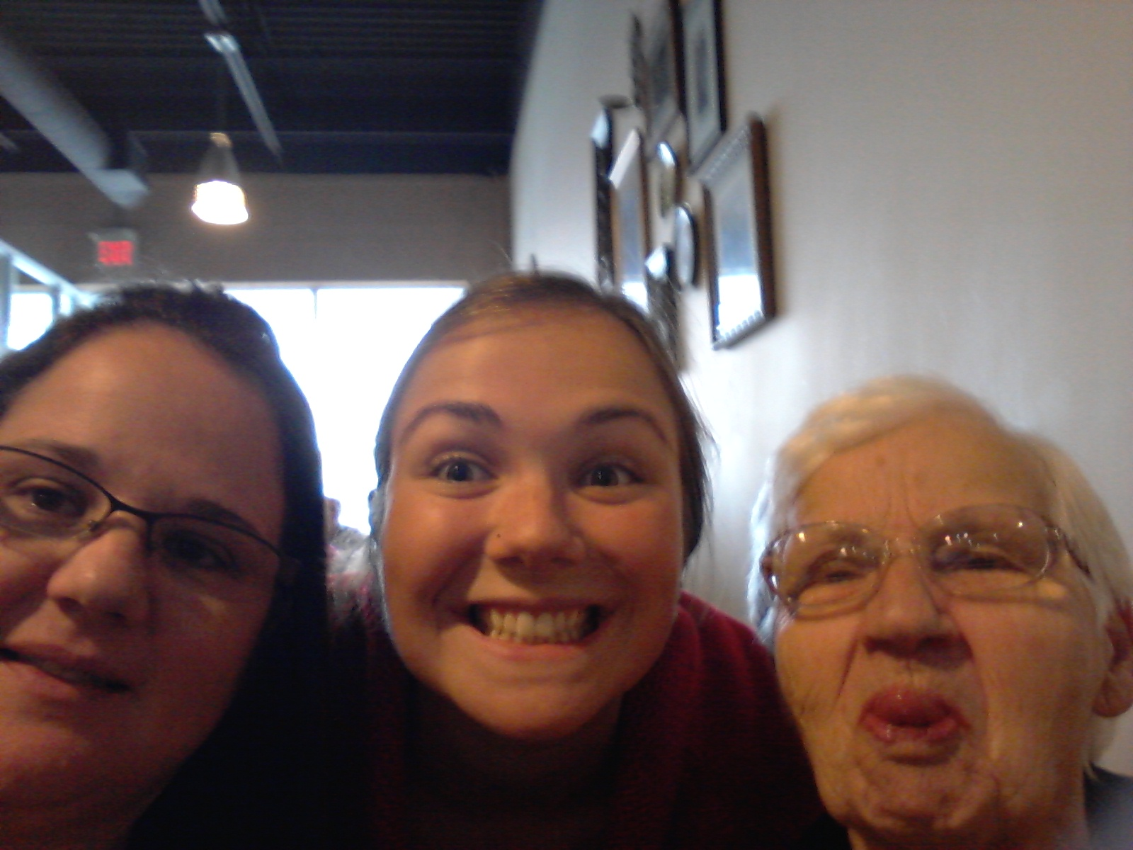 My mom, me and Nonna at lunch!