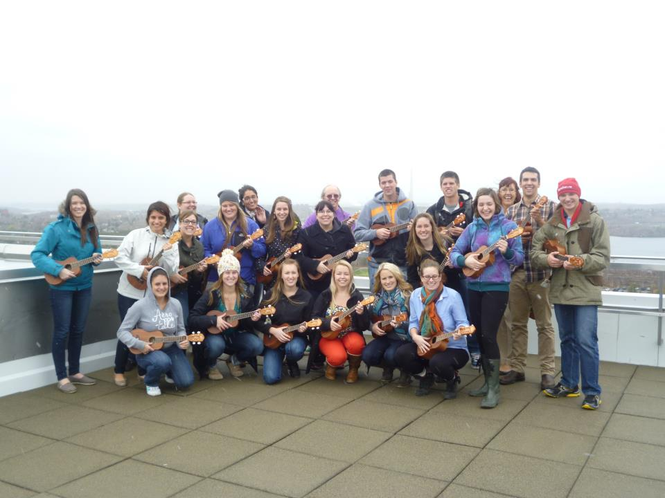 Ukuleles on the Roof: LU Con-Ed PJ Pro Years on the roof of the Parker