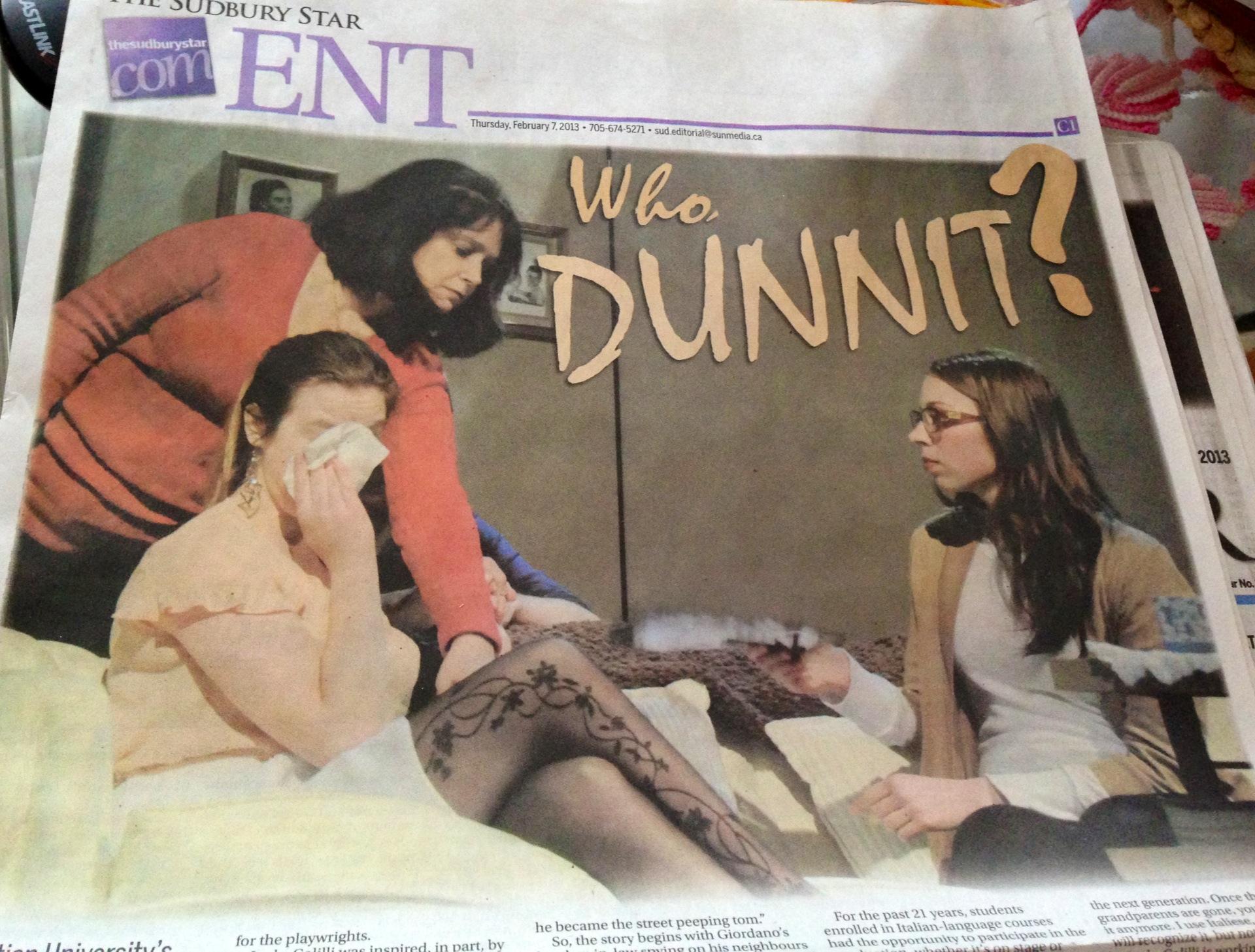 Me, Dalia, and Katrina getting famous in the Sudbury Star!