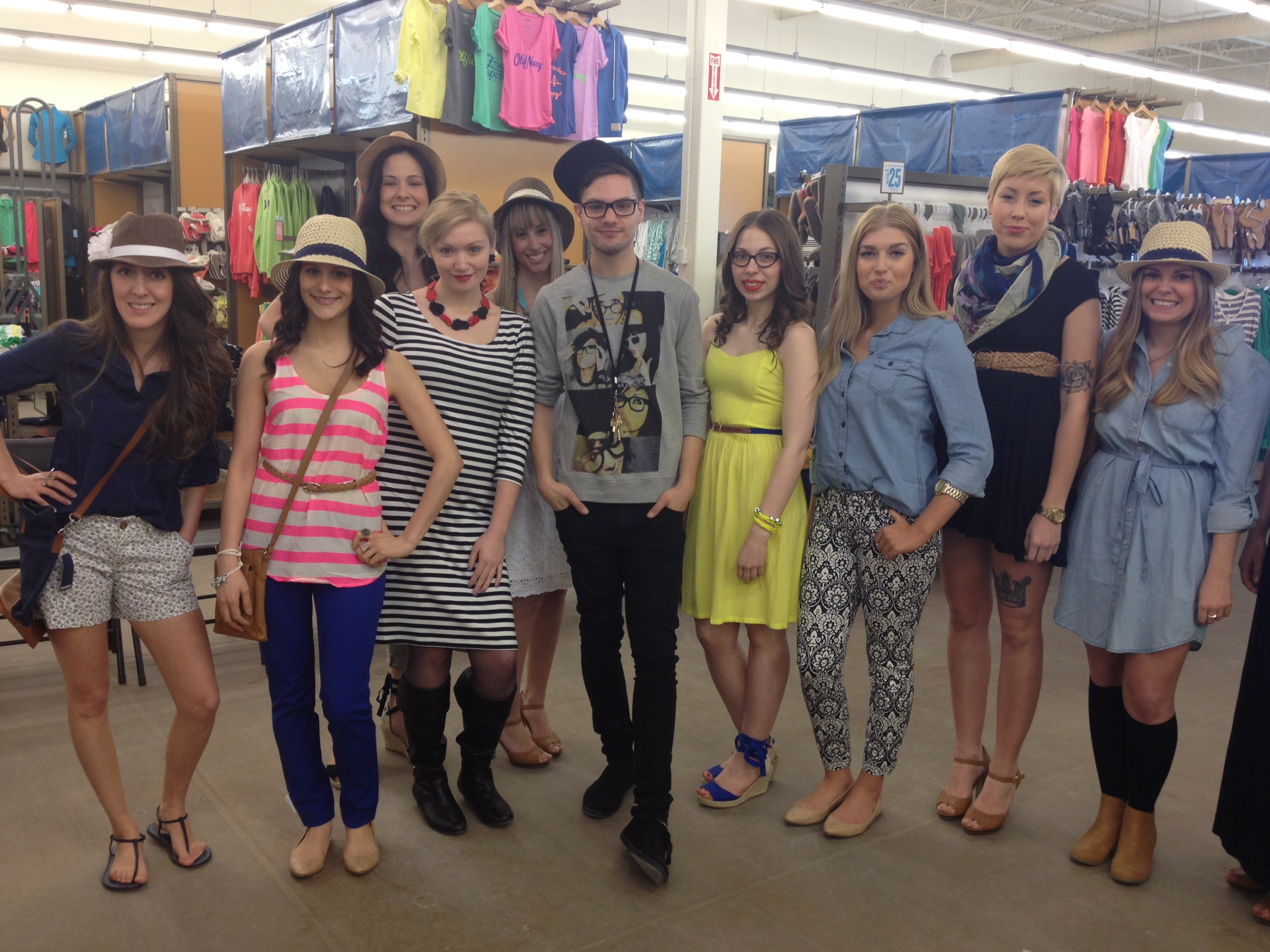 Old Navy fashion show!