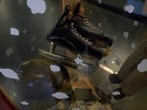 Les patins d'un soldat pendant la guerre.