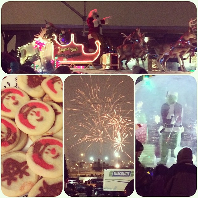 My night! The Santa Claus Parade, fireworks and Christmas cookies!