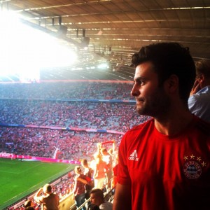 Sold out Bayers Munich game of 75,000