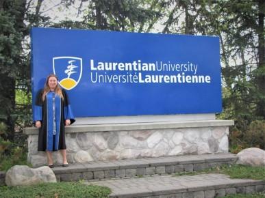 Jesse Popp, Laurenetian, graduation