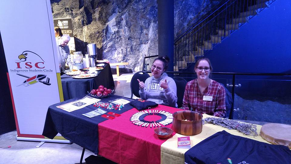 Kaella-Marie Earle and Gabrielle Pellerin are pictured at a WISE (Women in Science and Engineering) event at Science North. They discussed the Indigenous connection to science and engineering and its overall significance. Supplied photo